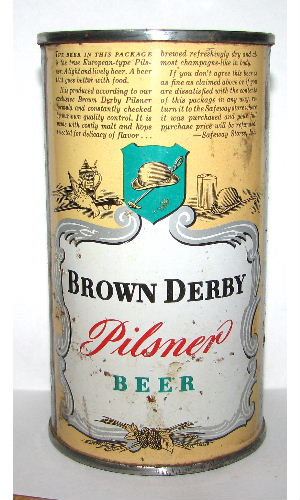 BROWN DERBY PILSNER BEER OI (Salem)