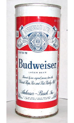BUDWEISER LAGER BEER ONE PINT