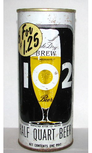 BREW 102 HALF QUART BEER