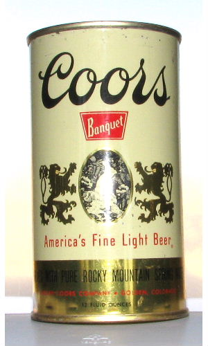 COORS BANQUET BEER(attic can)