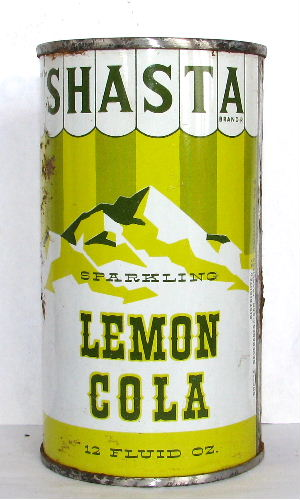 SHASTA SPARKLING LEMON COLA (Carnival Can)