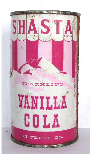 SHASTA SPARKLING VANILLA COLA (Carnival Can) - Click Image to Close