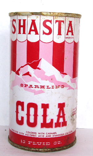 SHASTA SPARKLING COLA (Carnival Can)